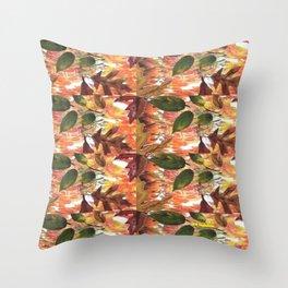 """Fall Pattern"" Throw Pillow"
