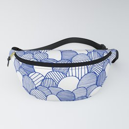 Striped Scallops - Blue Fanny Pack