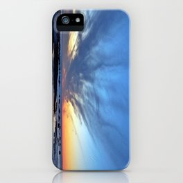 Cloud Streaks at Sunset iPhone Case