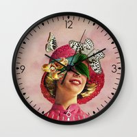 eugenia loli Wall Clocks featuring Chrysalis by Eugenia Loli