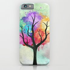 Awesome abstract pastel colors oil paint tree of Life Slim Case iPhone 6s
