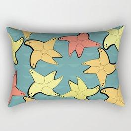 Seamless pattern with sea stars Rectangular Pillow