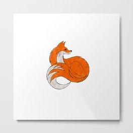 GO FAKE FUR FOR FOX SAKE. Save the fox. T-Shirt Metal Print