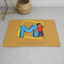 #36daysoftype Letter M - Mand Rug