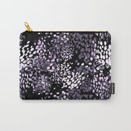 Dark purple watercolor dotted pattern Carry-All Pouch