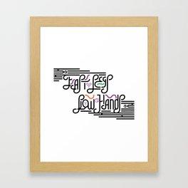 Tennis Tip Framed Art Print