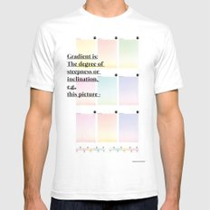 Gradient (English) Mens Fitted Tee SMALL White