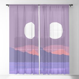 Tropical Landscape 03 Sheer Curtain
