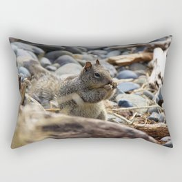 Squirrel Nibble Rectangular Pillow