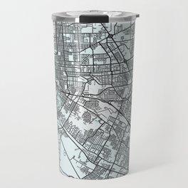 Baton Rouge, LA, USA, White, City, Map Travel Mug