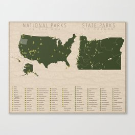 US National Parks - Oregon Canvas Print