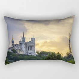 Sunset over Lyon Rectangular Pillow