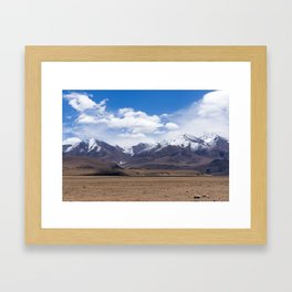 Typical mountain landscape - Tibet Framed Art Print