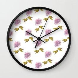 Roses art watercolor Wall Clock