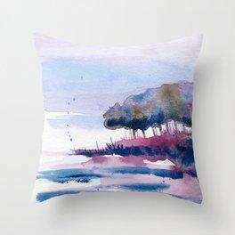 Lakeshore spring Throw Pillow