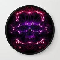 death star Wall Clocks featuring Death star by Cozmic Photos