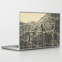 cleveland Laptop & iPad Skins featuring Cleveland map by Map Map Maps