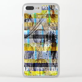 ABSTRACT/LIPSTICK ON A PIG Clear iPhone Case