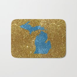 Michigan glitter Bath Mat
