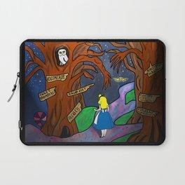 Alice in Wonderland in the Forbidden Forest Laptop Sleeve