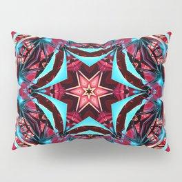 Fractal Art - Pink Kaleidoscope Pillow Sham