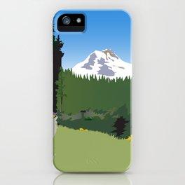 Mt Hood Meadows Hike iPhone Case
