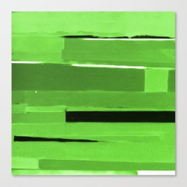 Green Monochromatic Canvas Print
