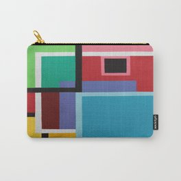 TOUCHES OF SQUARES Carry-All Pouch