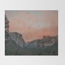 Yosemite National Park Sunset Throw Blanket