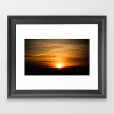 Sunset Silhuettes Framed Art Print