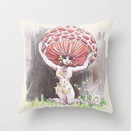Empire of Mushrooms: Rhodotus palmatus Throw Pillow