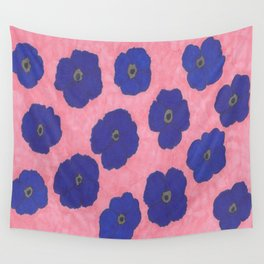 Blooms in Blue Wall Tapestry
