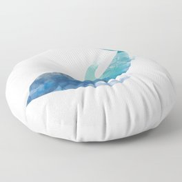 Watercolor playing Dolphin Floor Pillow