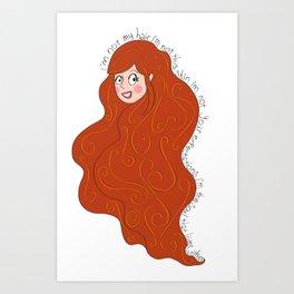 I'm not my hair! Art Print