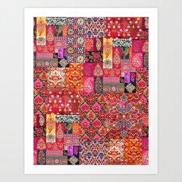 -A35- Traditional Colored Moroccan Artwork. Kunstdrucke