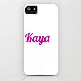 Kaya iPhone Case