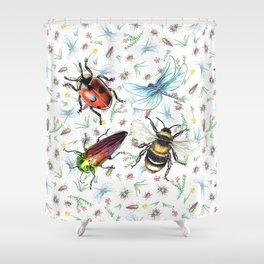 Insectopia Shower Curtain
