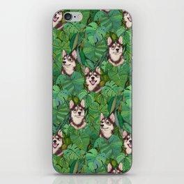 Pomsky Garden iPhone Skin