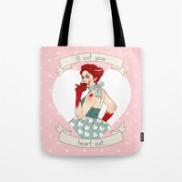 valentine Tote Bags featuring Valentine by Noble Demons