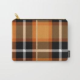 Orange + Black Plaid Carry-All Pouch