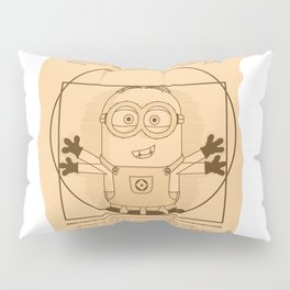 Vitruvian minion Pillow Sham