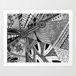 Geometrical abstraction Art Print