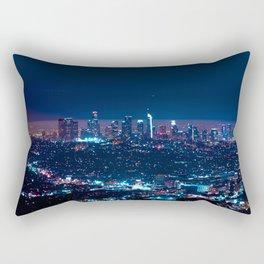 Los Angeles at Night Rectangular Pillow