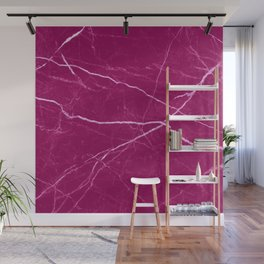 Magenta marble abstract texture pattern Wall Mural