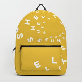 Hello Sunshine #minimal #typography #summervibes Backpack