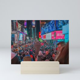 Crowd on the Street Mini Art Print
