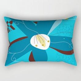 Blue Saucer Magnolia Rectangular Pillow