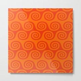 Retro Wave Pattern 223 Metal Print