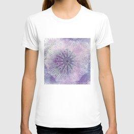 painterly paisley mandala in mauve T-shirt