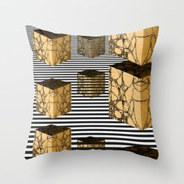 Cube Descension Throw Pillow